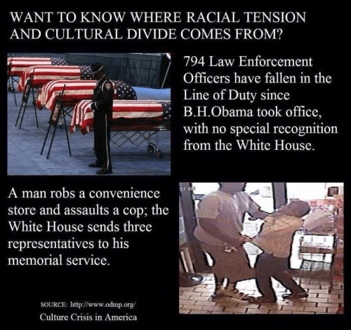 White House ignores police and honors thugs