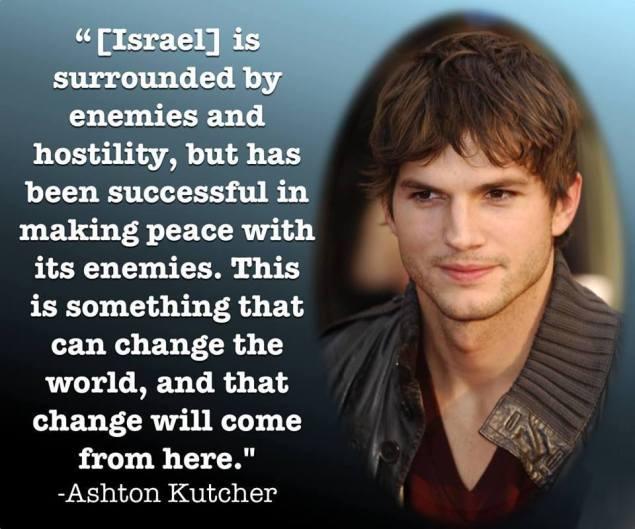 Ashton Kutcher on Israel
