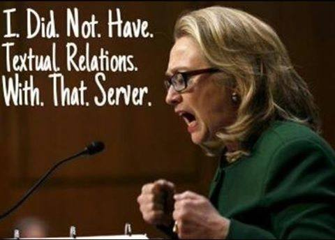 Hillary did not have textual relations with that server