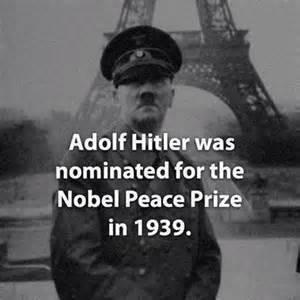 Hitler nominated for Nobel Peace Prize