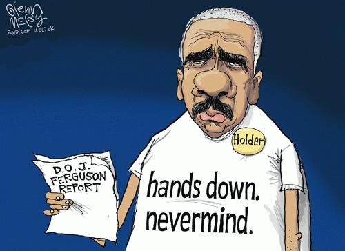 Holder quiet about Ferguson report