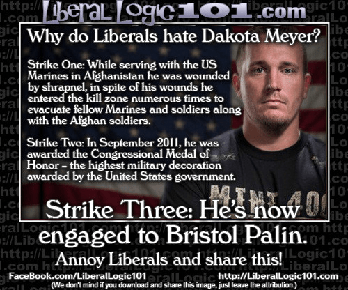 Liberals hate Dakota Meyer