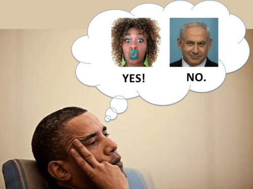 Obama Yes on Glozell and No on Netanyahu