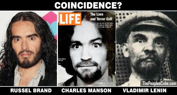 Russel Brand Charles Manson Lenin