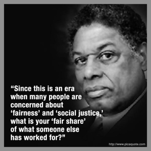 Thomas Sowell on fairness and social justice