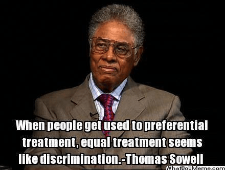 Thomas Sowell preferential treatment discrimination