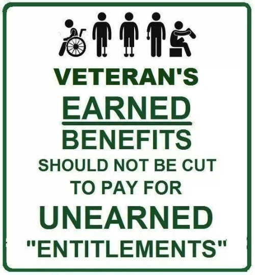 Veterans' benefits shouldn't be cut for entitlements