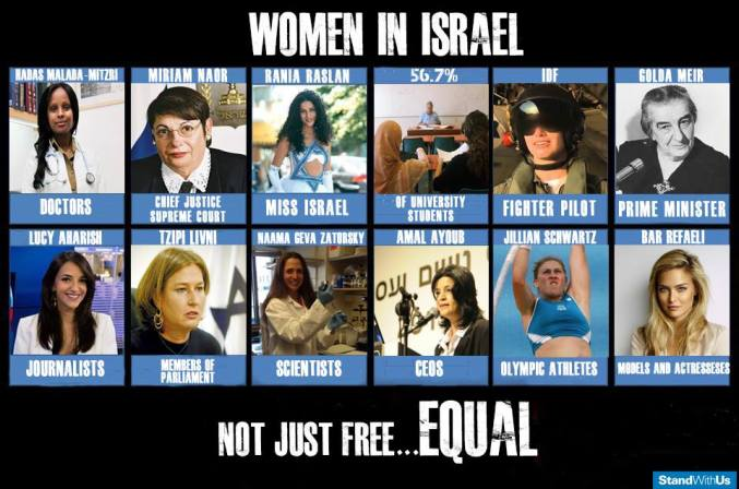 Women in Israel free and equal