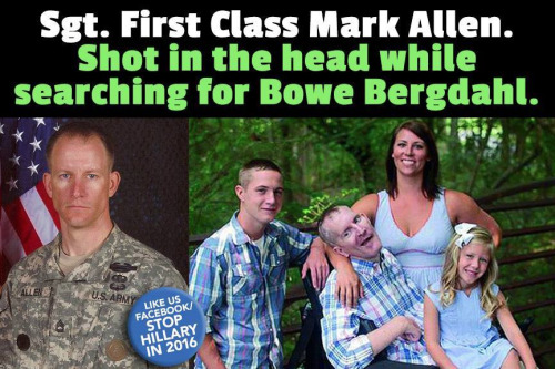 Mark Allen shot in head searching for Bowe Bergdahl
