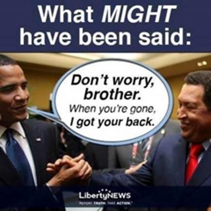 Obama and Hugo Chavez