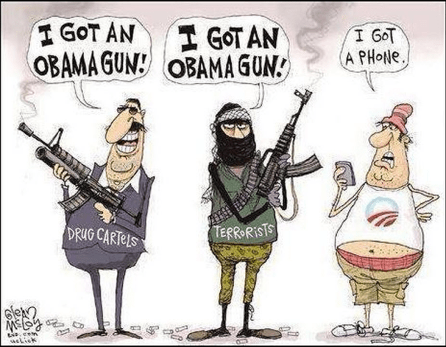 Obama guns and phones