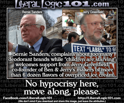 Bernie Sanders Ben and Jerry hypocrisy