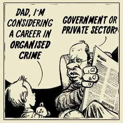 Career in organized crime government