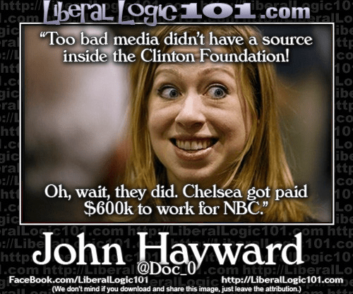 Chelsea Clinton 600000 dollars from NBC