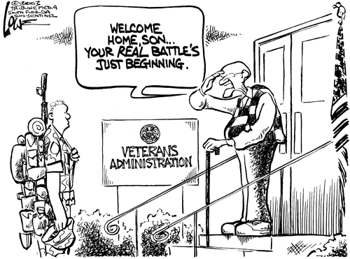 Veteran's administration real battle