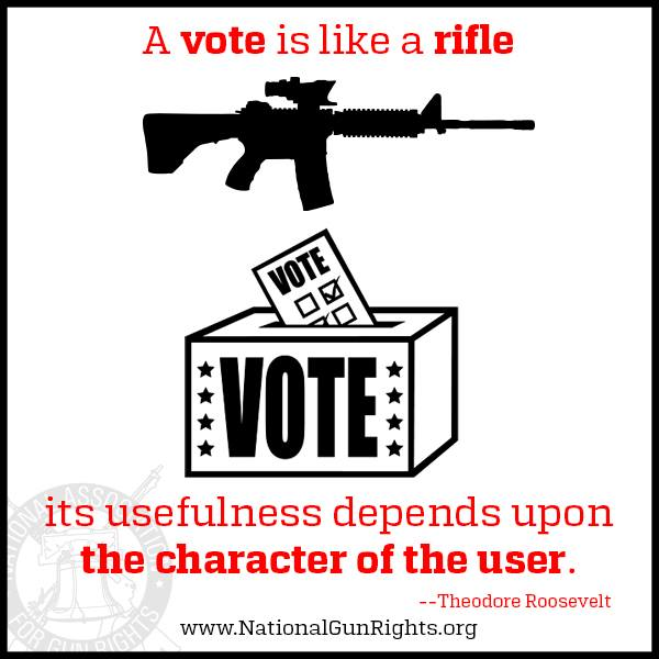 A vote is like a rifle