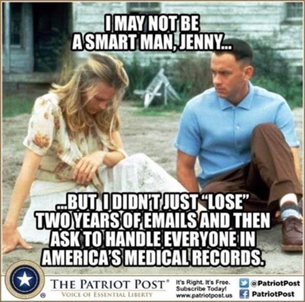 Forrest Gump on Hillary emails