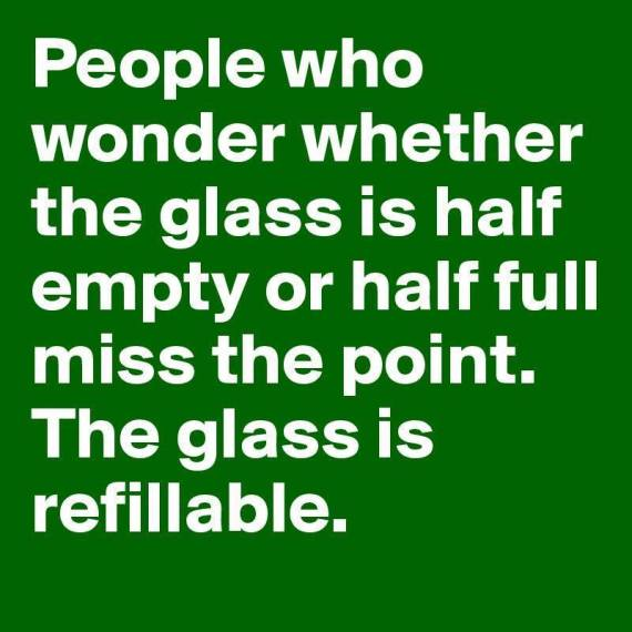 Glass is refillable