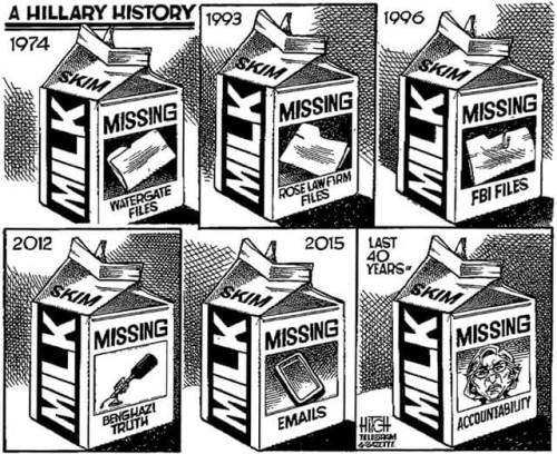 Milk cartons Hillary