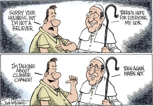 The Pope and climate change