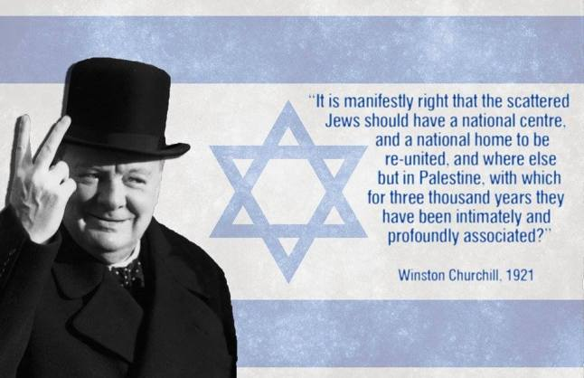 Winston Churchill on a Jewish homeland