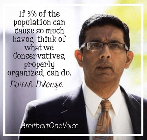 D'Souza on organized conservatives