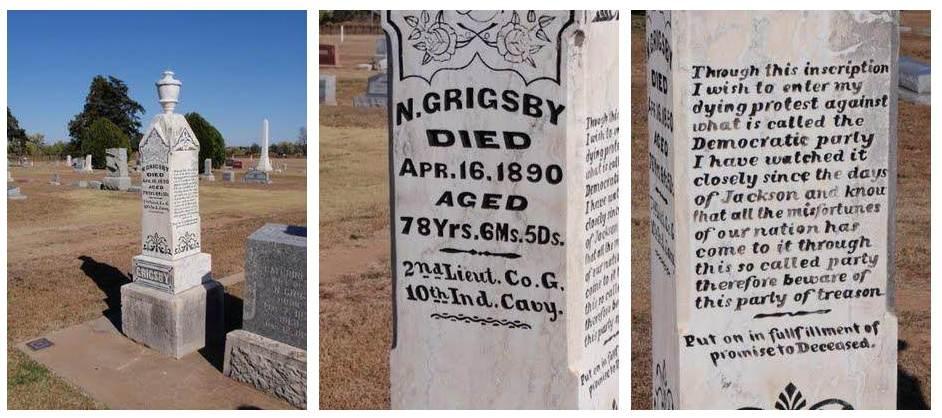 Anti-Democrat tombstone