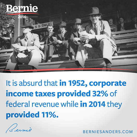 Bernie Sanders on corporate income taxes