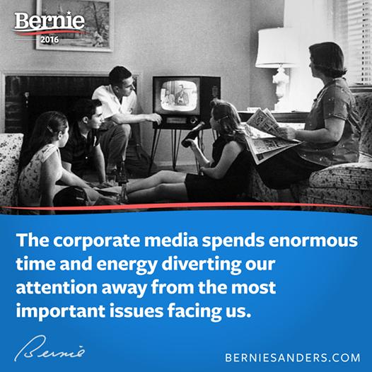 Bernie Sanders on corporate media