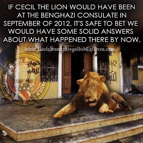 Cecil the lion Benghazi