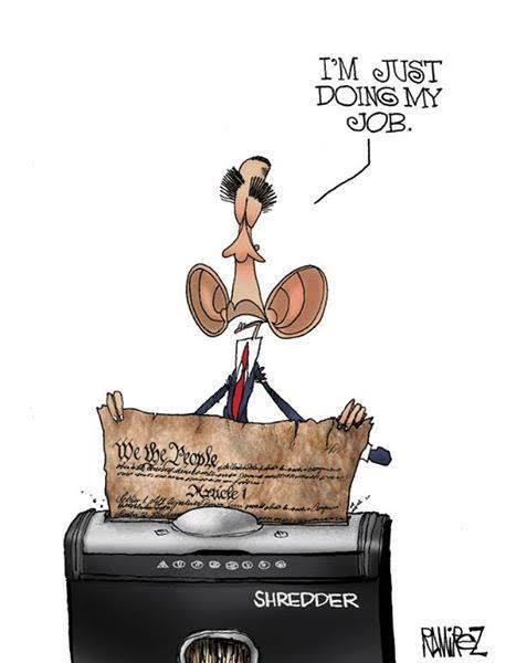 Obama shredding constitution