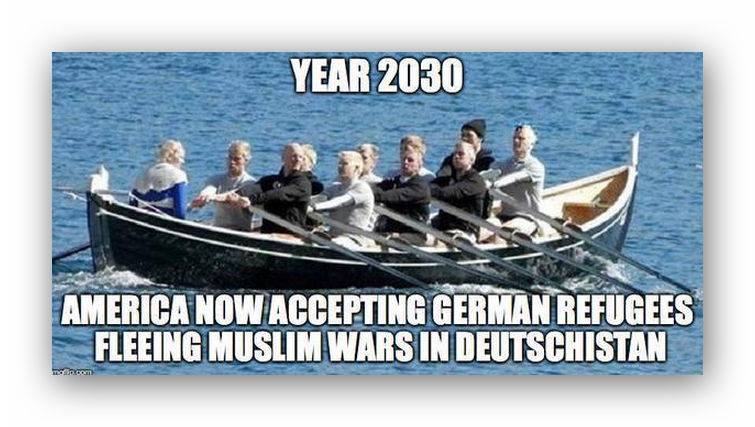 America accepting German refugees