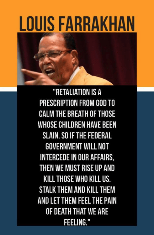 Farrakhan inciting murder