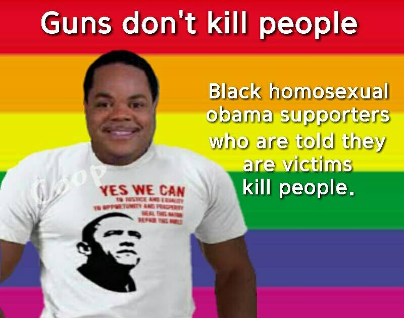 Guns don't kill people racist black gays kill people