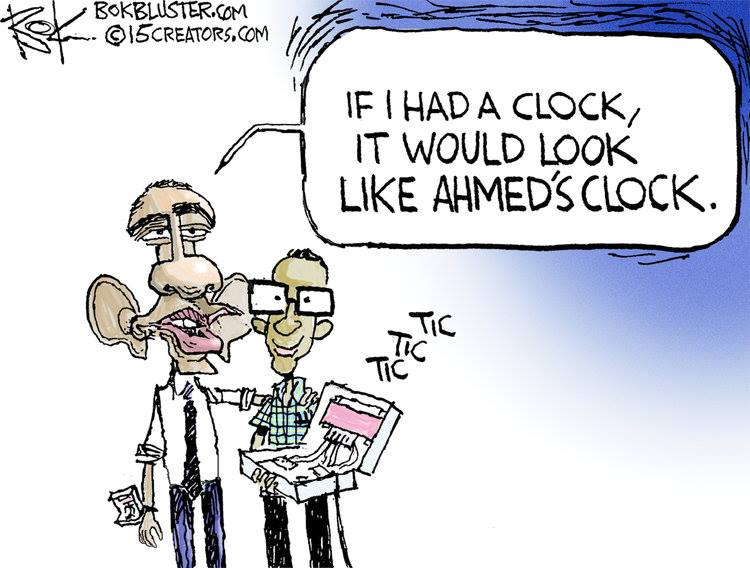 Obama and Ahmed's clock