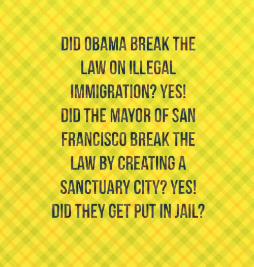 Obama and SF no jail for breaking law