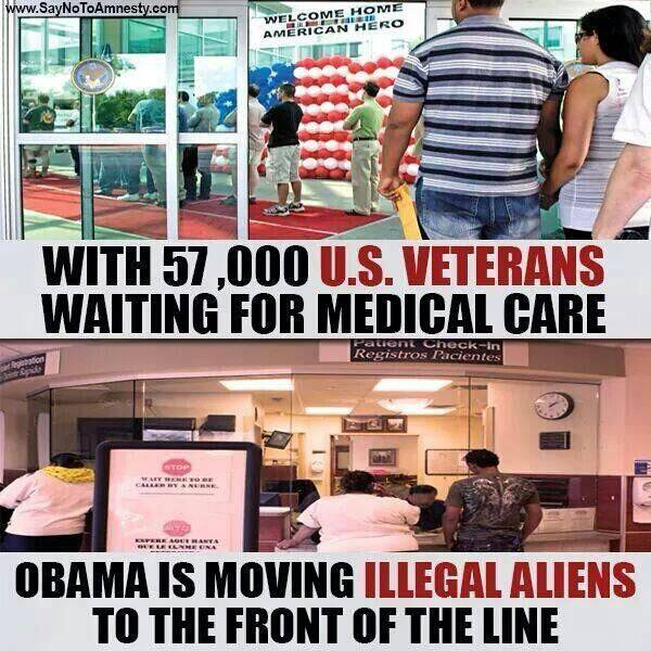 Obama illegal aliens veterans medical care