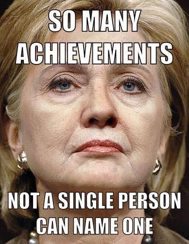 People can't name Hillary's accomplishments