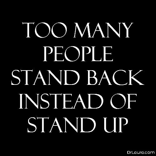 Stand back or stand up