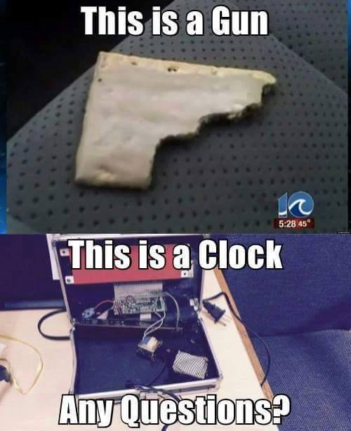 This is a gun this is a clock