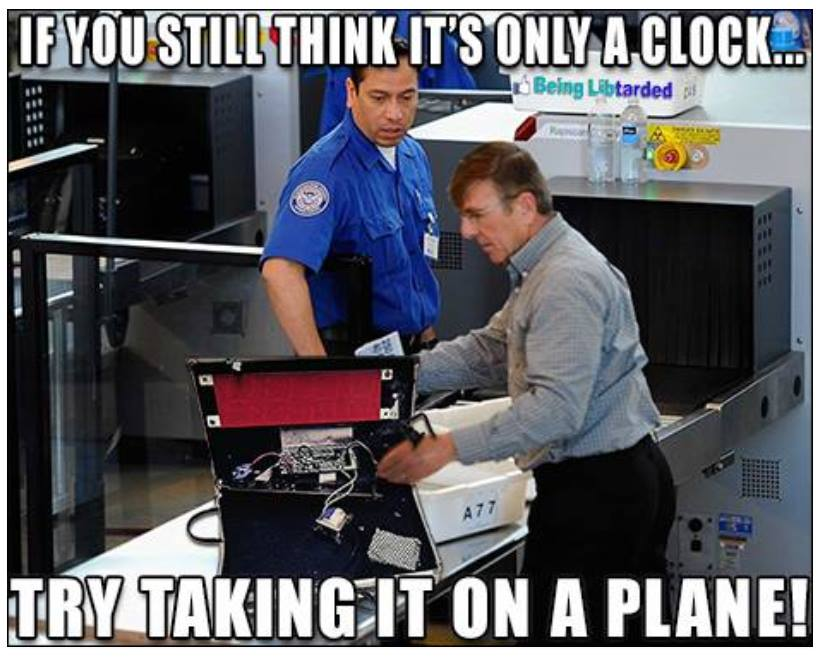 Try taking clock on plane