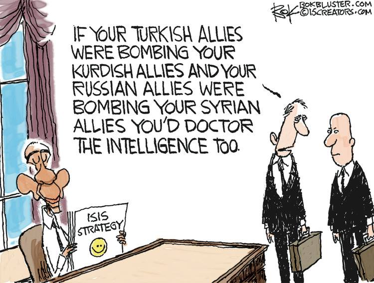 America's allies bombing each other