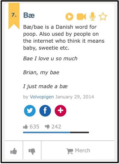 Bae means poop in Danish