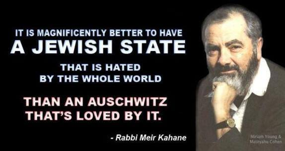 Better a hated Jewish state than a loved Auschwitz