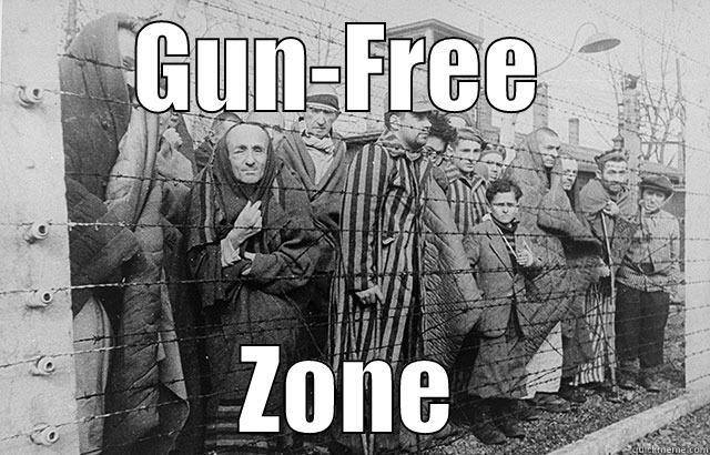 Concentration camp gun free zone
