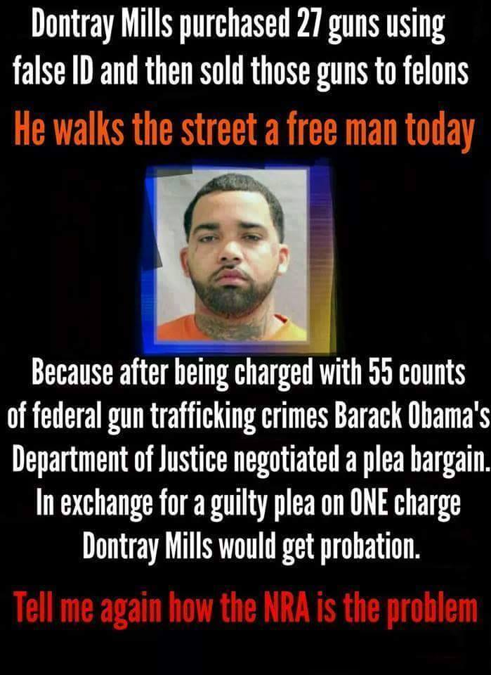 Dontray Mills and illegal guns
