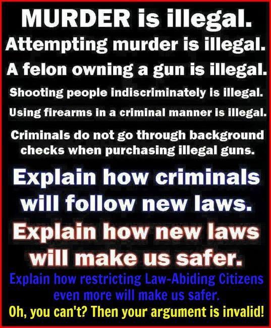 Gun bans will not change illegal behavior