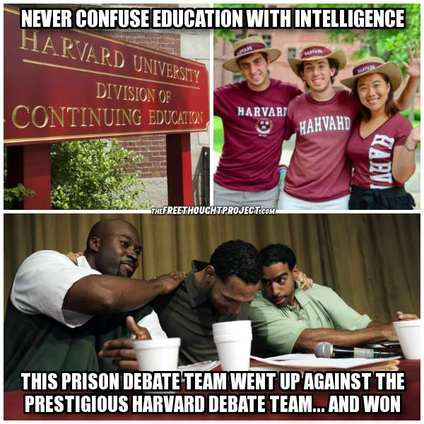 Harvard debating team loses to prisoners