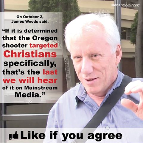 James Woods on media bias against Christians