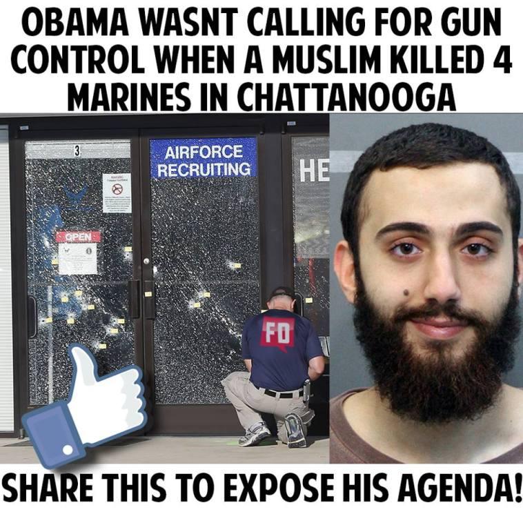 No call for gun control when Marines killed